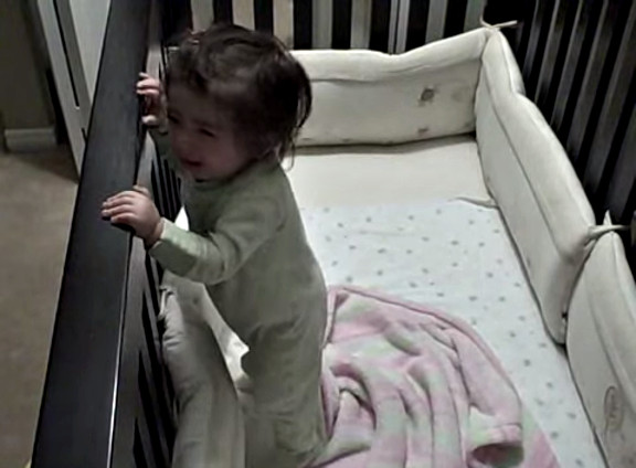 Father goes into baby crib - YouTube