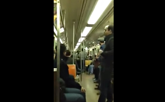 SAX BATTLE IN NYC SUBWAY  original duh...  - YouTube
