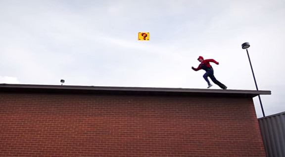 Super Mario Brothers Parkour [In Real Life  - YouTube
