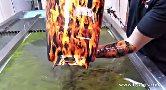 Water Transfer Printing - Hydrographics - Wassertransferdruck Process   HG Arts  www.hgarts.com  - YouTube (1)