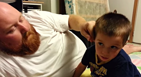 Daddy took my ear and nose! - YouTube