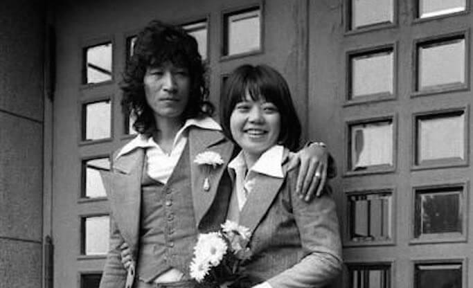 若い頃の内田裕也夫妻